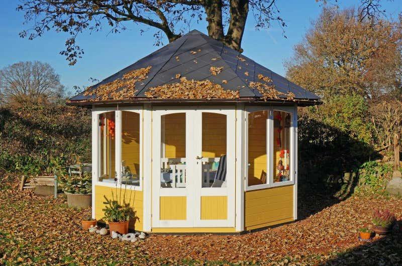 gartenpavillon modell emma 40 mit vier fenstern 122421 a. Black Bedroom Furniture Sets. Home Design Ideas