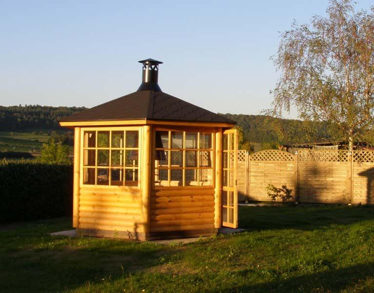 6 eck grillpavillon scandia 6m a z gartenhaus gmbh. Black Bedroom Furniture Sets. Home Design Ideas