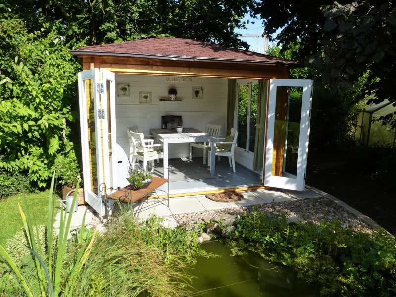 gartenhaus summertime 40 mit gro er faltt r a z. Black Bedroom Furniture Sets. Home Design Ideas