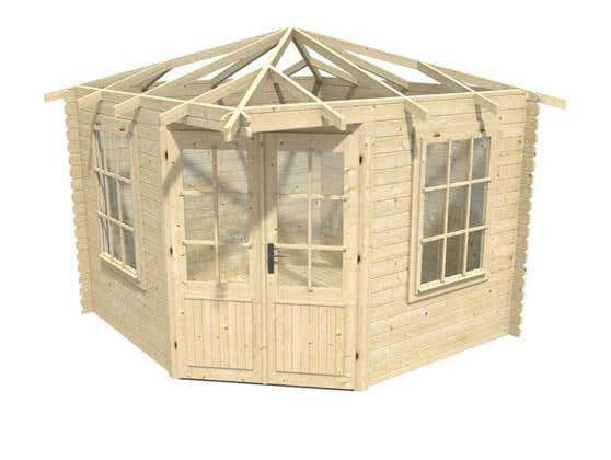 5 eck gartenhaus. Black Bedroom Furniture Sets. Home Design Ideas