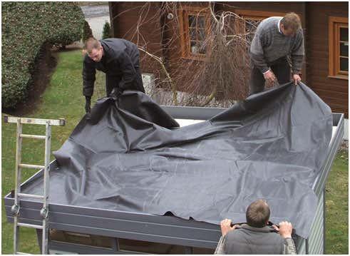EPDM Dachfolie für Gartenhäuser