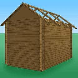 Wandaufbau mit Dach