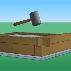 Wandaufbau mit Nut und Feder-System
