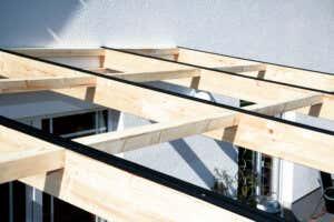 Terrasse Leimholz fertiges Holzgerüst