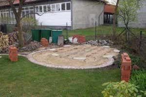 Gartenpavillon Untergrund