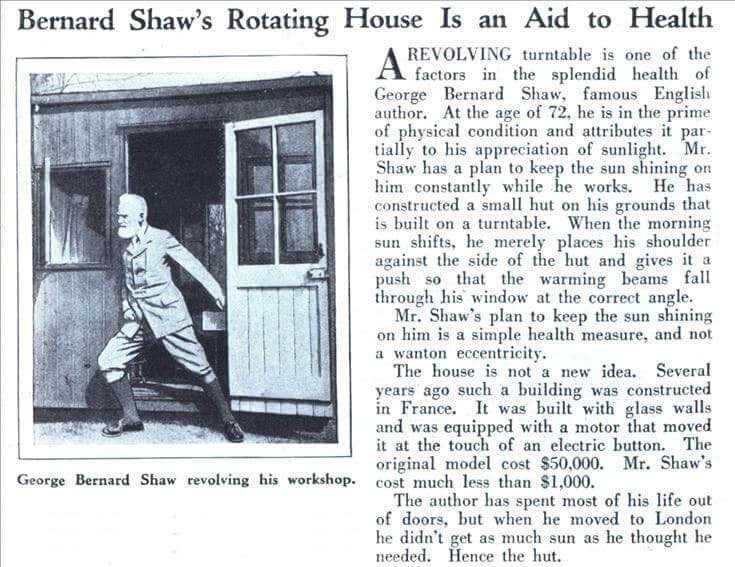 Bernard Shaws Writing Hut. Bildquelle: 1.bp.blogspot.com