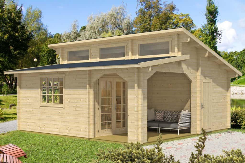Gartenhaus stufendach