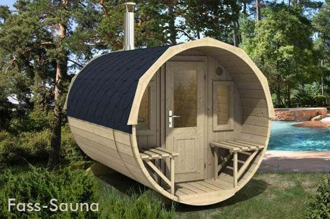 saunieren in der garten sauna. Black Bedroom Furniture Sets. Home Design Ideas