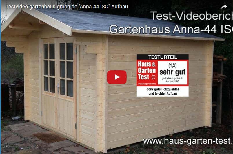 testvideo aufbau gartenhaus anna 44 iso. Black Bedroom Furniture Sets. Home Design Ideas