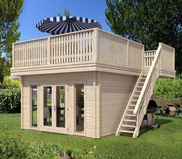 interessante besondere dachformen von gartenh usern. Black Bedroom Furniture Sets. Home Design Ideas