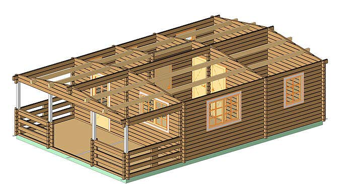 CAD_Projection-3Dgartenhaus