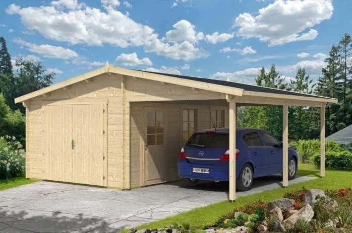 Garage mit carport aus holz  Holzgaragen und Carports aus Holz: die günstigere Alternative