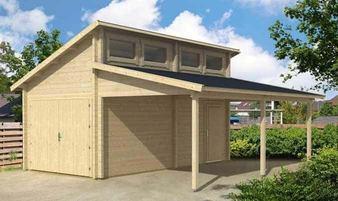 Beautiful Holzgarage Mit Carport