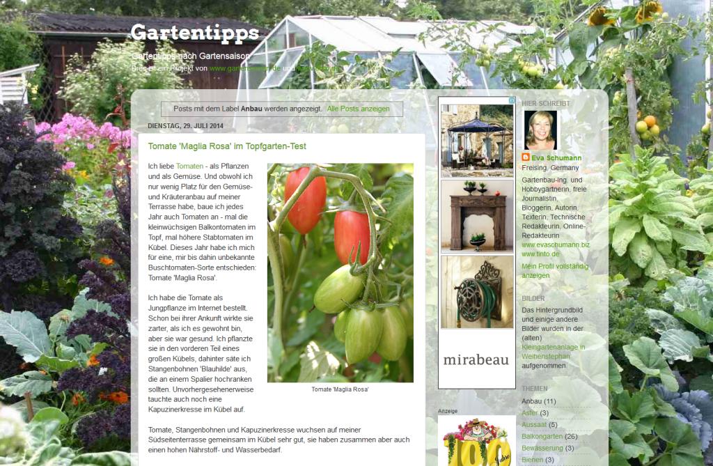 Gartensaison Gartentipps
