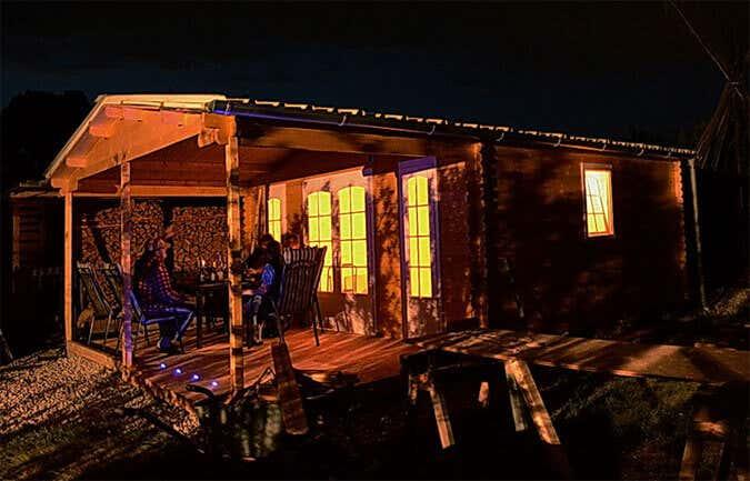Gartenhaus: Beleuchtungstest