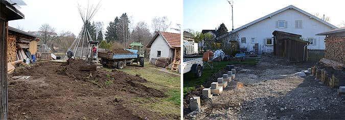 Bodenarbeiten, Kabelverlegung, Fundament