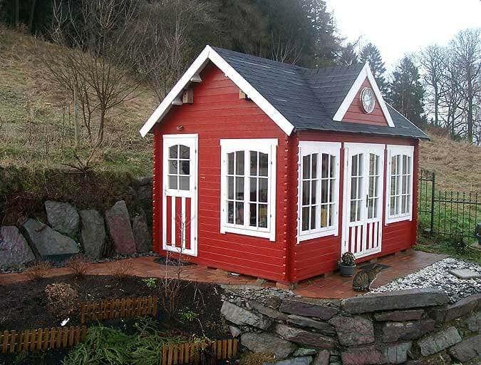 Gartenhaus schwedenrot  Schwedenrot: Das Lieblingsrot für das Gartenhaus