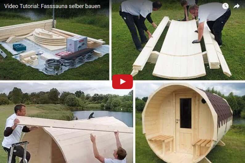 video anleitung f r den aufbau einer fass sauna. Black Bedroom Furniture Sets. Home Design Ideas