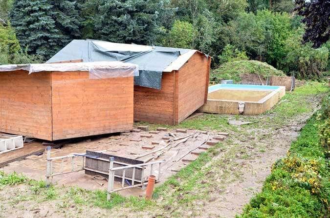Gartenhaus weggeschwemmt