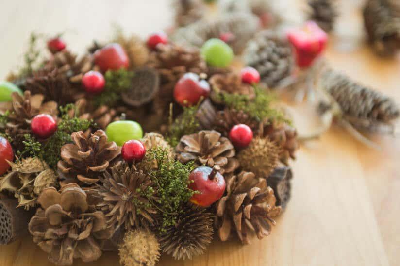 Weihnachtsdekoration im garten und zuhause for Kleine fliegen im topf