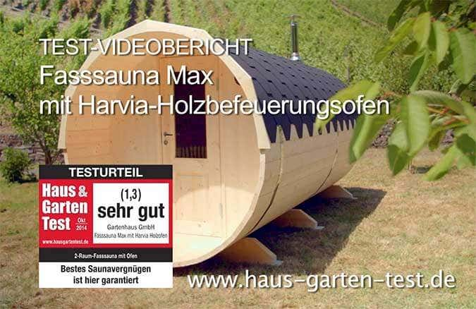 fass sauna im test sehr gut f r das modell max. Black Bedroom Furniture Sets. Home Design Ideas