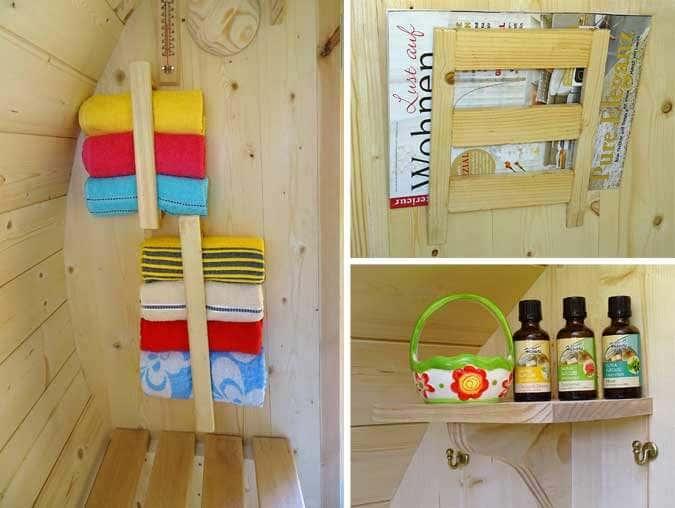Sauna-Ausstattung