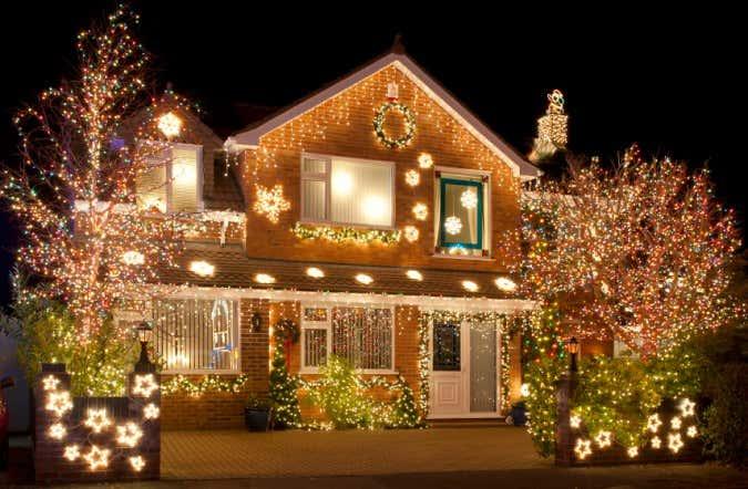 weihnachtsdekoration im garten und zuhause. Black Bedroom Furniture Sets. Home Design Ideas