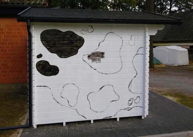 Gartenhaus-Bemalung