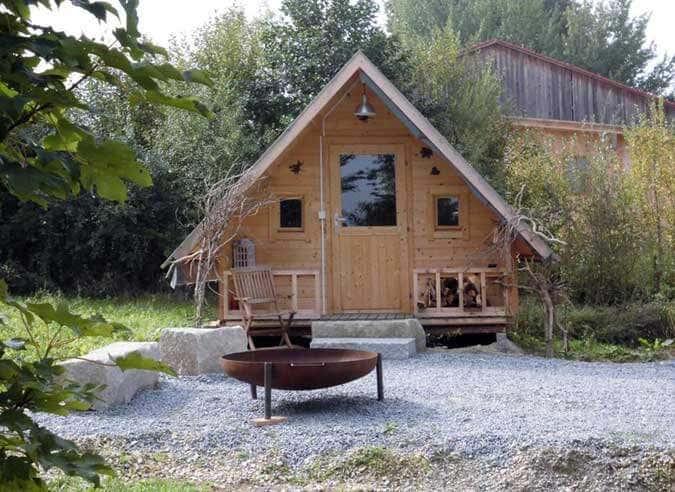 Das hexenhaus gartenhaus als schlafh tte in niederbayern - Gartenhaus mit pultdach selber bauen ...