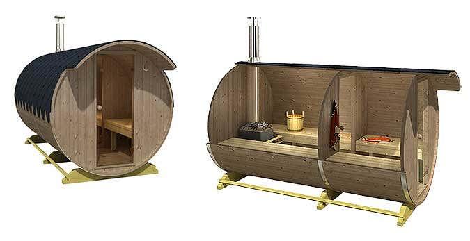 einen fass sauna aus thermoholz kologisch und langlebig. Black Bedroom Furniture Sets. Home Design Ideas