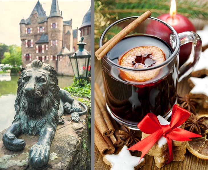 Burg und Weihnachtsstimmung