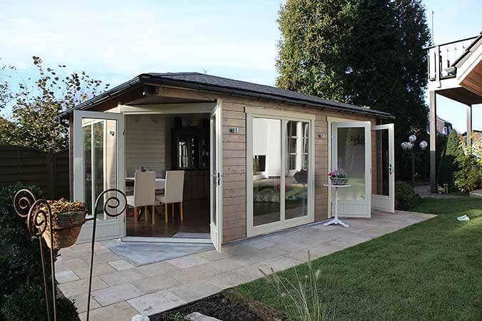 5 eck gartenhaus julia eine wohlf hl oase im aufbau fotostory - Gartenhaus aus beton ...