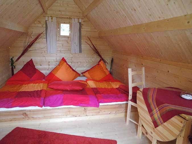 Inneneinrichtung Gartenhaus mit Schlafboden