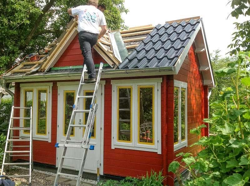 Gartenhaus im clockhaus stil mit schlafboden und bullauge - Gartenhaus clockhouse ...