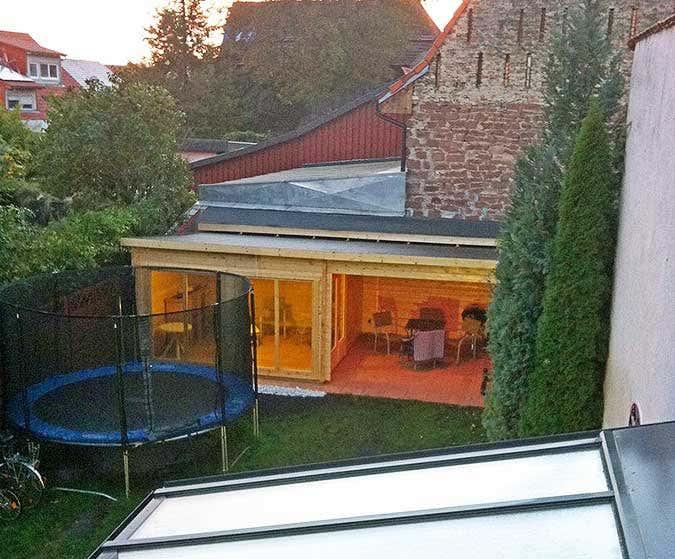 Gartenhaus fertig aufgebaut