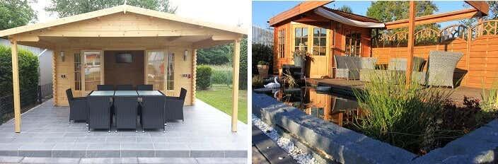 Gartenhaus Möbel sitzgelegenheiten für den garten