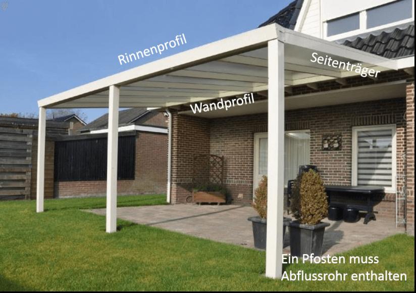 terrassenüberdachung aus aluminium: aufbauanleitung, Haus und garten