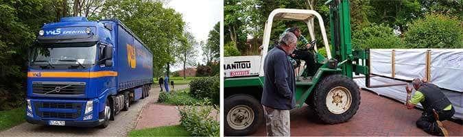 Gartenhaus Anlieferung