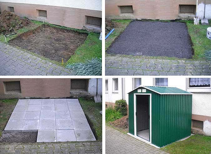 fundament kleines gartenhaus my blog. Black Bedroom Furniture Sets. Home Design Ideas