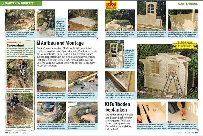 SELBST, Gartenhausaufbau, Seite 2