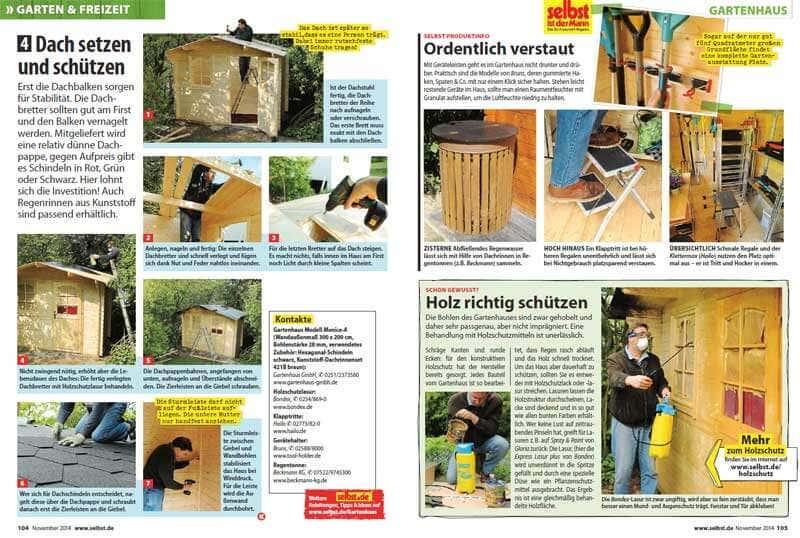 gartenhaus monica aufbau und bericht bei selbst ist der mann. Black Bedroom Furniture Sets. Home Design Ideas