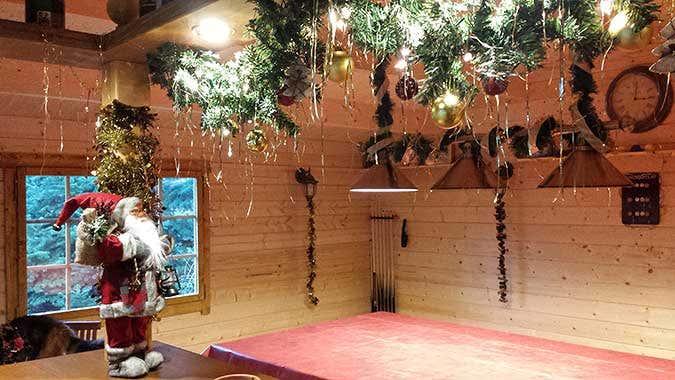 Weihnachtsdeko Gartenhaus