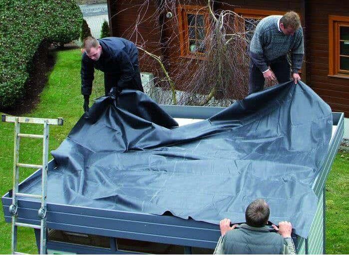 flachdach gartenhaus abdichten tipps und anleitung. Black Bedroom Furniture Sets. Home Design Ideas