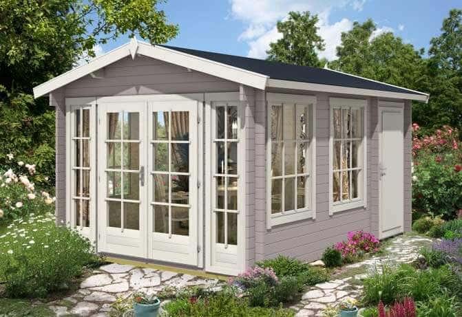ein gartenhaus wird zum wellnesshaus mit selbstbau sauna. Black Bedroom Furniture Sets. Home Design Ideas