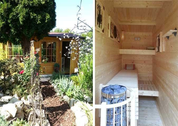 Gartenhaus Gestalten ein gartenhaus wird zum wellnesshaus mit selbstbau