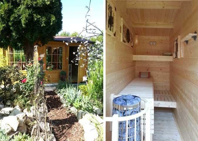 Gartenhaus mit Wellness-Bereich
