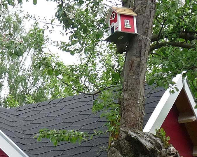 Gartenhaus taubenblau  Schwedenrot: Das Lieblingsrot für das Gartenhaus