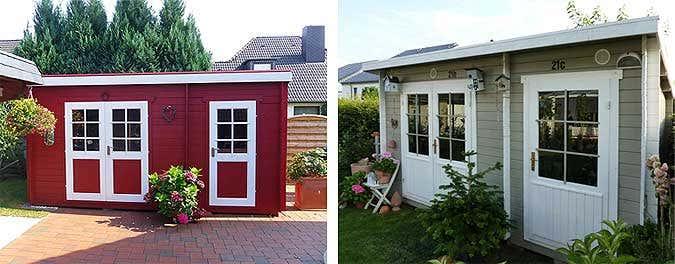 Gartenhaus streichen schwedenrot  Gartenhaus mit 2 Räumen: Vielfältige Nutzungsmöglichkeiten