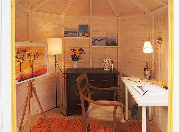 Gartenhaus-Einrichtung-Atelier