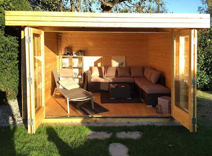 Gartenhaus Originell Einrichten: 20 Großartige Inspirationen Gartenhaus Aus Holz Moblieren